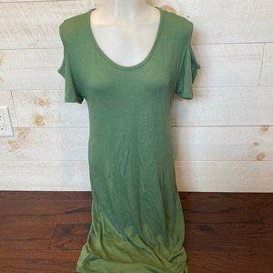 NWT Olive Green Cold Shoulder Midi Dress